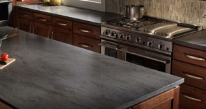 Corian Lava Rock Kitchen Countertop1