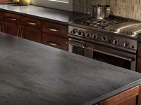 Corian Lava Rock Kitchen Countertop